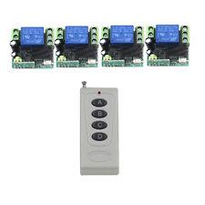 DC 12V 4CH Channel 200M Wireless RF Remote Control Switch Transmitter + Receiver