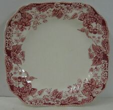 "Johnson Brothers STRAWBERRY FAIR Square Salad Plate (7-3/4"") Multiple Available"