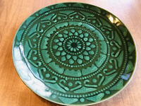 "Rare Luncheon Salad PLATE(s) 8.5"" *Morocco* Emerald green TABLETOPS GALLERY MINT"