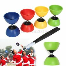 4-Color Big Bowl Diabolo + Free Plastic Sticks - Chinese YoYo Juggling Toy Gift