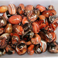 Natural 1pc Banded Agate Madagascar Crystal Stone Specimen Tumbled Pattern Gift