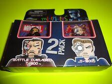 New Terminator 2: Judgement Day-Minimates- Battle Damaged T-800 & T-1000