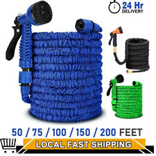 More details for expandable extendable garden hose flexible pipe expanding with spray gun new