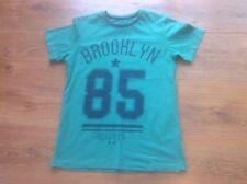 Boys Bright Green And Black Crew Neck T-shirt 10-11 Years Matalan