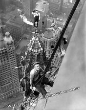 Historic Photograph of Painters Atop the Woolworth Building New York 1926 11x14