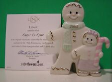 Lenox 2002 Sugar & Spice Gingerbread Ornament New in Box with Coa
