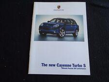 2006 Porsche Cayenne Turbo S Limited Edition Brochure '06 US Sales Catalog