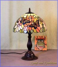 Butterfly Tiffany Stand Tisch Lampe Tischlampe Tiffanylampe GN 104