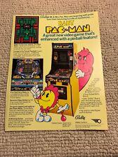 11- 8.5'' Worn Millipede Atari Baby Pac Man arcade video game Ad Flyer
