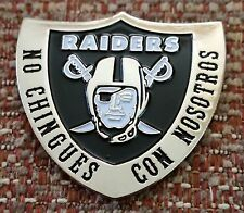 OAKLAND RAIDERS NO CHINGUES CON NOSOTROS SHIELD Lapel Pin