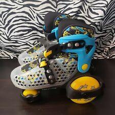 Roller Derby Fun Roll Adjustable Skates Sizes Youth 2-11 Kids Blue/Black