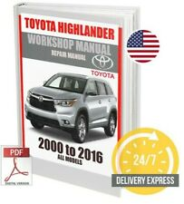 Toyota Highlander Workshop Service Repair Manual 2000-2016