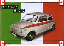 20X30cm Tin Metal Sign FIAT 500 MOTOR AUTO VINTAGE GARAGE CAFE BAR PUB Wall 011