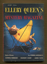 ELLERY QUEEN'S MYSTERY MAGAZINE - October 1954 - Woolrich, Yaffe, Sharp, etc.