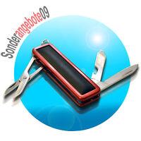 Taschenmesser Multifunktionsmesser Messer rot schwarz Nagelfeile Nagelpflege