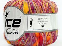50Grams Ball Summer Piuma Yellow Red Purple Shades Ice #37539 Polyamide Yarn