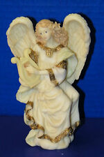 "Christmas Seraphim Angel Cymbeline Peacemaker 1993 Roman Figurine Harp 6 1/2"""