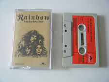 RAINBOW LONG LIVE ROCK 'N' ROLL CASSETTE TAPE 1978 RED PAPER LABEL POLYDOR UK
