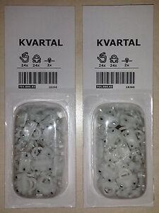 IKEA Kvartal 24 Glider + Hook 2 Packs For Sliding Curtains - New