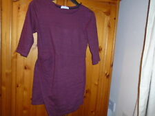 Burgundy hip length top with 3/4 length sleeves, ZARA, size Small, UK size 8-10