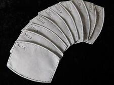 10 Filtre PM 2.5 pour Masque Tissu  Respirant Protection Charbon Adulte (8x12)