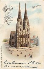 Foreign GERMANY Gruss Aus Koln Kolner Dom Hagelberg Cathedral c1905 4