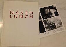 NAKED LUNCH (1991) Press Kit Folder, Photo; William S. Burroughs Adaptation