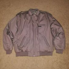 Mens Members Only Heavy Jacket Size Large Tan Zip Up-EUC