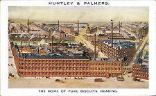 Advertising. Huntley & Palmers. The Home of Pure Biscuits, Reading. Factory.