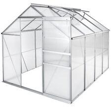 Serre de jardin polycarbonate aluminium légume plante jardinage 250x185x195cm