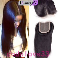 Brazilian Lace Closure Straight Virgin Remy 7A Human Hair French Lace Lace Front