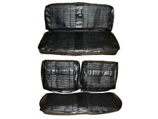 PG Classic 7708-BEN-100 1969 Roadrunner Satellite Bench Seat Cover Set(Black)