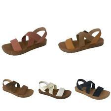 Women's Flat  Sandals Cross Elastic Straps Casual Open Toe Summer Size