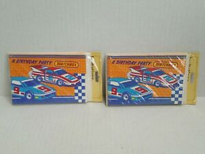 Vintage Matchbox A Birthday Party Inventions Packs Porsche 935 Gibson Greetings