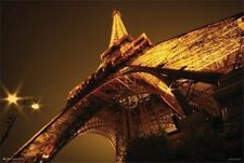 PARIS ~ EIFFEL TOWER GLOWING AT NIGHT 24X36 FINE ART POSTER NEW/ROLLED!