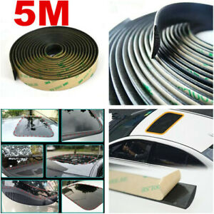 Rubber 5m Soundproof Dustproof Sealing Strip Car Windshield Sunroof Accessories