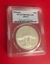 1984 S DOLLAR PCGS PR69DCAM OLYMPIC