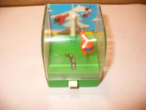 1987 Tomy STARCADES RESCUE COPTER White Knob Wind-Up Arcade Game Toy