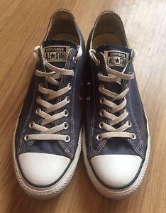 Converse Chuck Taylor All Star OX Navy -Size 12 uk