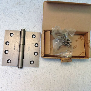 LOT of 6 each BALDWIN DISTRESSED ANTIQUE NICKLE MORTAR HINGES 1040.452 BRAND NEW
