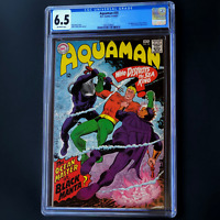 AQUAMAN #35 (DC 1967) 💥 CGC 6.5 OW 💥 1ST APP OF BLACK MANTA! OCEAN MASTER APP
