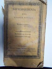 GIURISPRUDENZA DEL CODICE CIVILE- VOL. 19*- ED, SONZOGNO-MILANO 1808