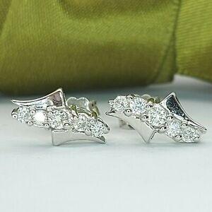 Ladies Earrings 18ct (750,18K) White Gold (0.30ct) Diamond Stud Earrings
