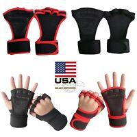 US Fitness Gloves Weight Lifting Gym Workout Training Wrist Wrap Strap Men Women