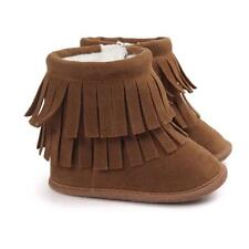 Baby Kids Girl Boy Winter Warm Snow Tassel Boots Newborn Soft Cib Sole Shoes US