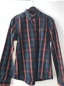 Lyle & Scott long sleeve checked shirt, Black/red/blue/yellow Small Used