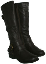 LADIES BROWN BELOW KNEE HIGH BOOTS WITH SIDE ZIP IN SIZE 7