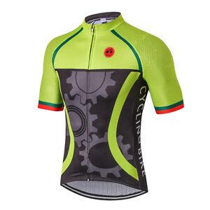 Green Gear Men Pro Bicycle Bike Half Sleeve Cycling Jersey Clothing Shirt S-3XL