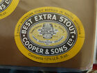VINTAGE AUS BEER LABEL. COOPERS & SONS BEST EXTRA STOUT 12 FL OZ #2