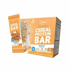 Quest Cereal Protein Bar, Waffles Flavor,15 bars best by 12/19/17